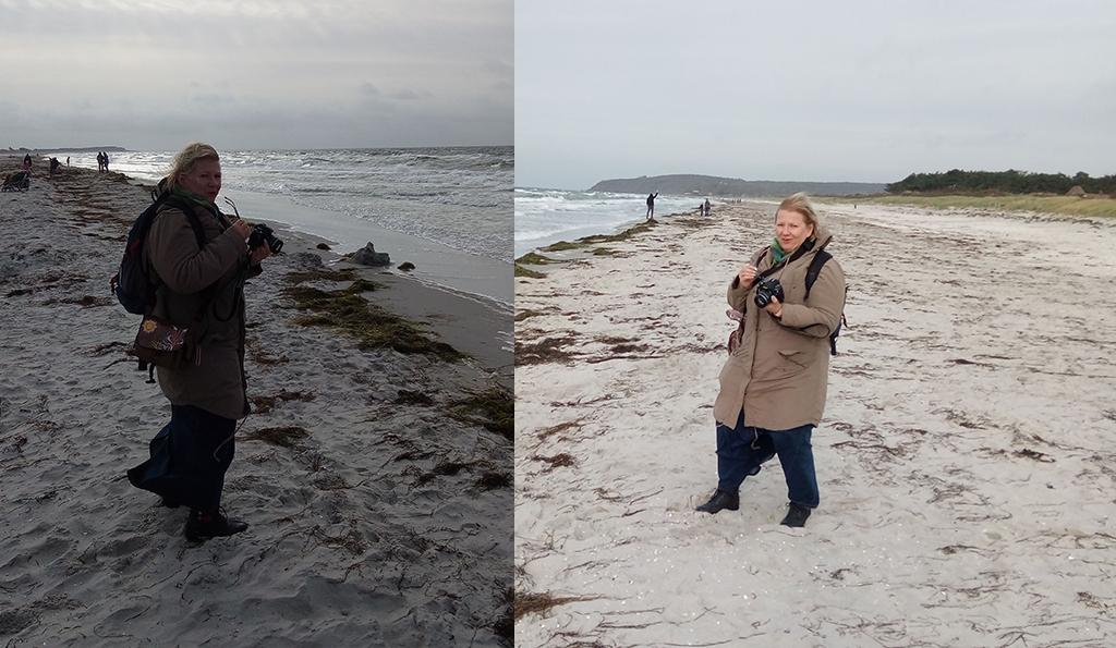 Bloggerin Kathrin am Strand