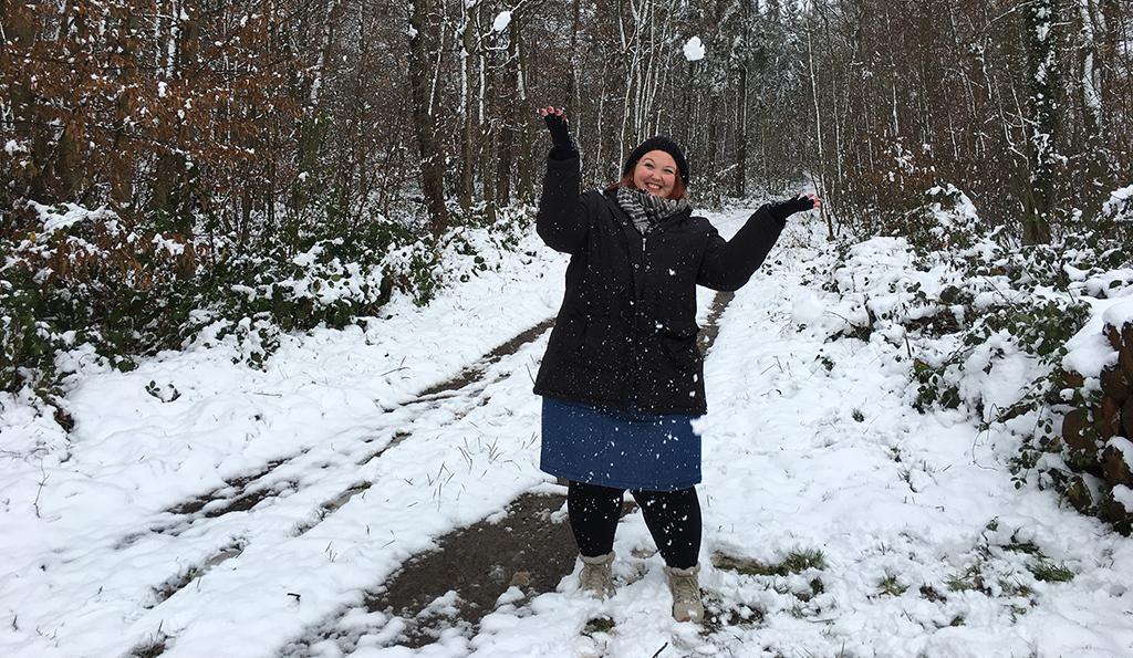 Bloggerin Christiane im Schnee
