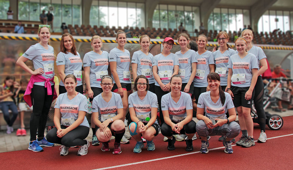 Das FRAUENSACHE-Team beim Frauenlauf in Augsburg
