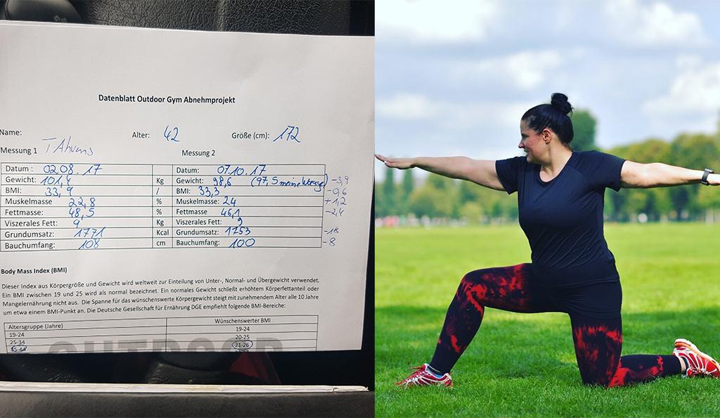Tanja beim Sportprogramm von Felix Klemme