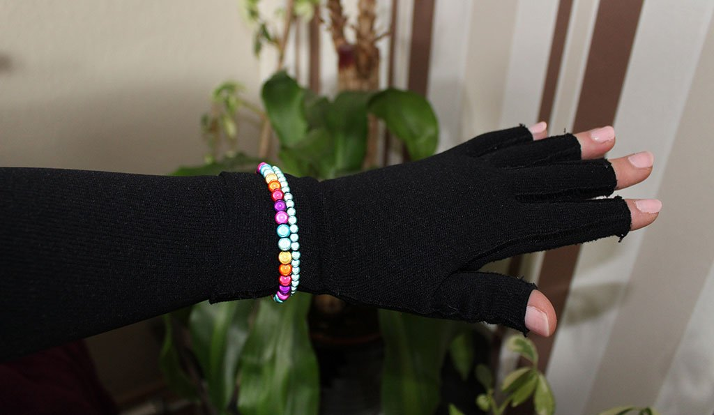Armkompression mit Armbändern