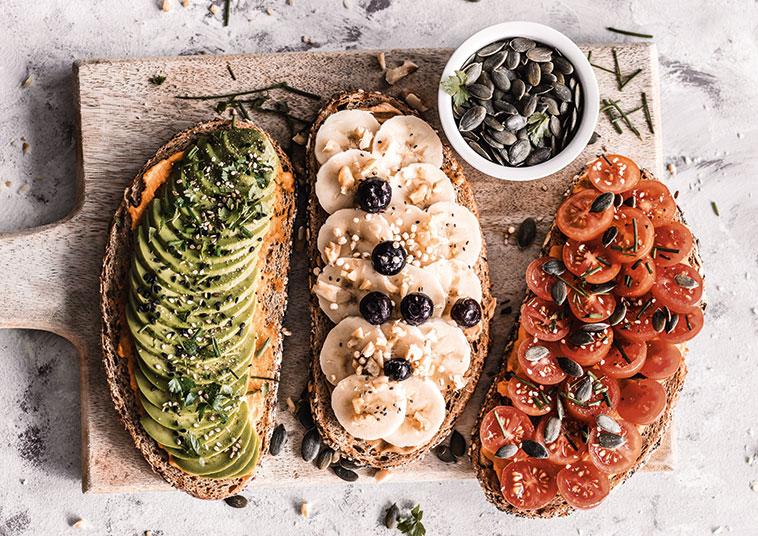 Brote mit veganem Belag   FRAUENSACHE